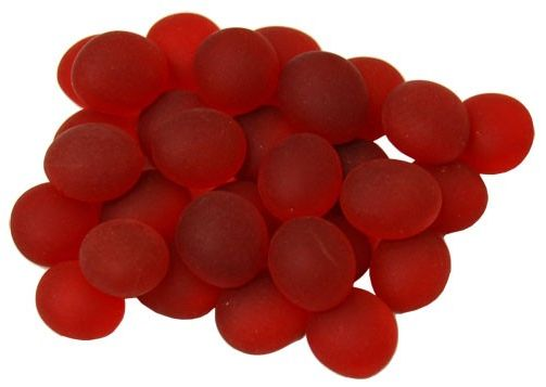 Glass Gaming Stones - Crystal Red Frosted (40+)