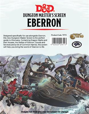 D&D DM Screen Eberron