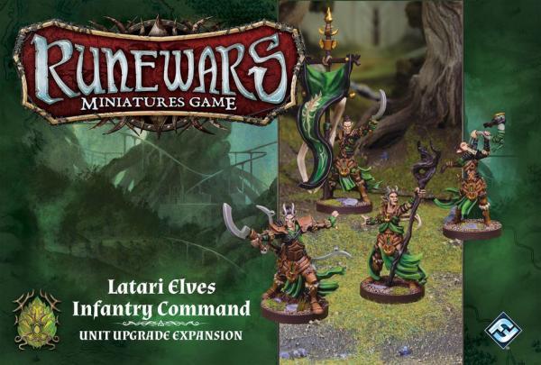 Runewars Latari Elves Infantry Command Unit Expansion