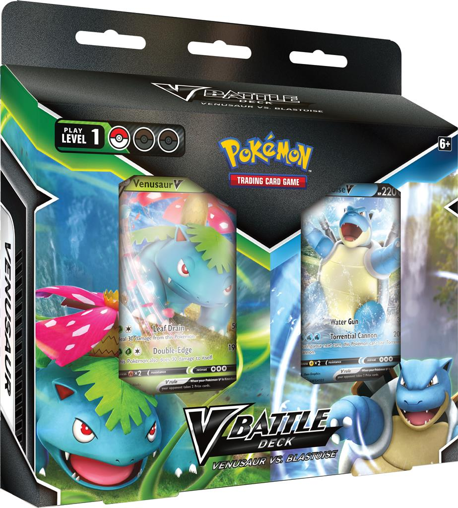 Pokemon: Battle Deck Bundle - Venusaur V vs. Blastoise V