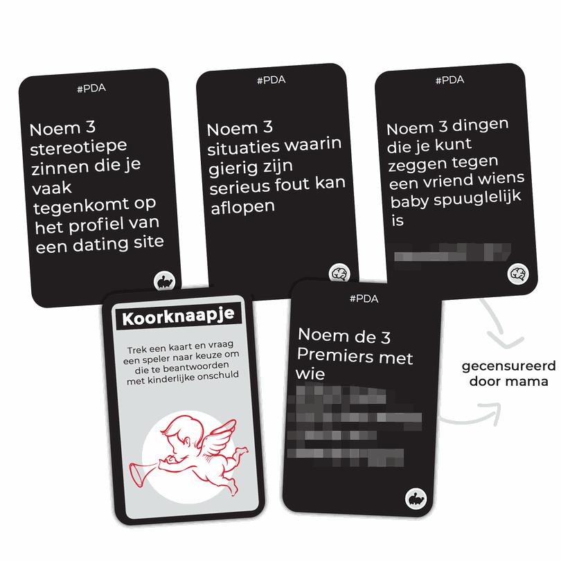 PDA - Please Don't Ask - Partyspel