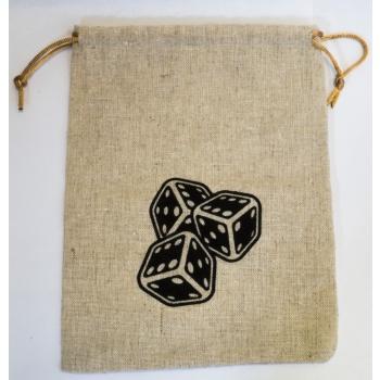 Stoffen Dice Bags 15x20cm met print