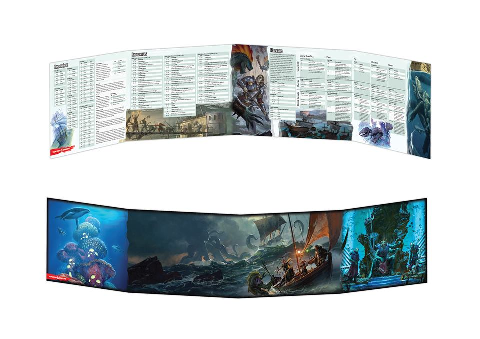 Dungeons & Dragons: Of Ships and the Sea DM Screen