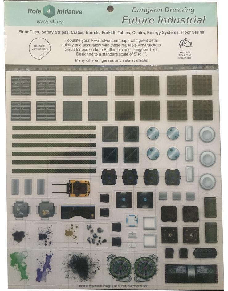 Future Industrial: Dungeon Dressing: Dry Erase Vinyl Stickers