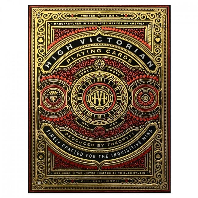 Pokerkaarten: Bicycle High Victorian Red