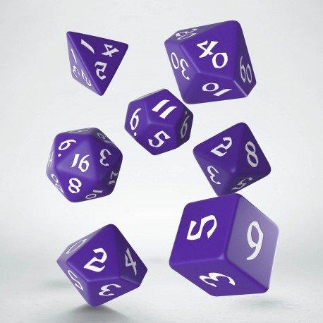 Classic Runic Purple & white Dice Set (7)