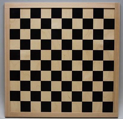Schaakbord/dambord triplex blank/Zwart