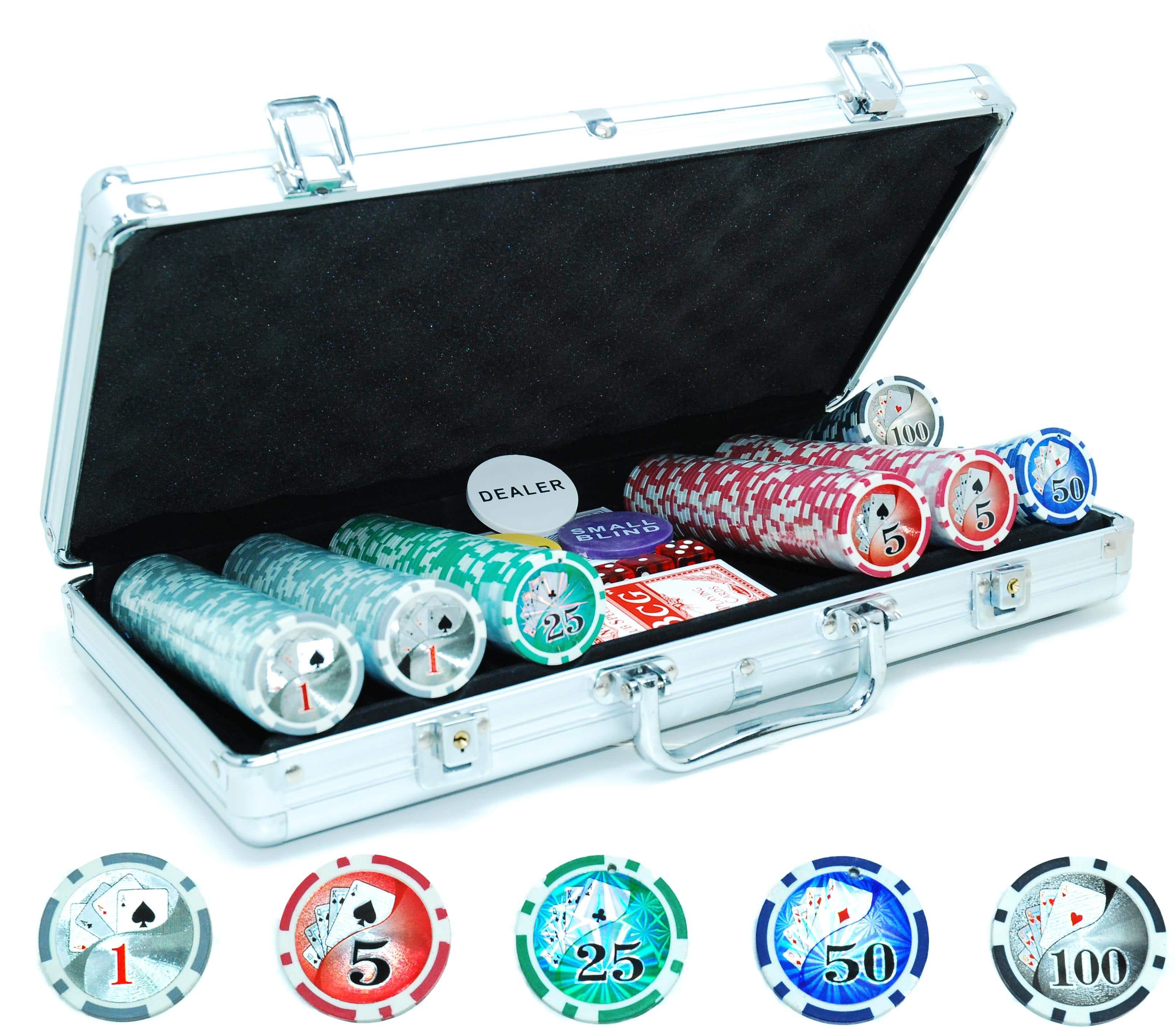 Poker koffer: 300 laserpokerfiches