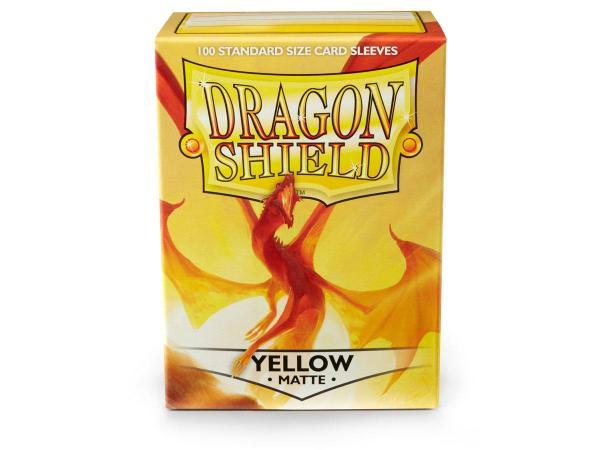 Dragon Shield Sleeves - Yellow Matt