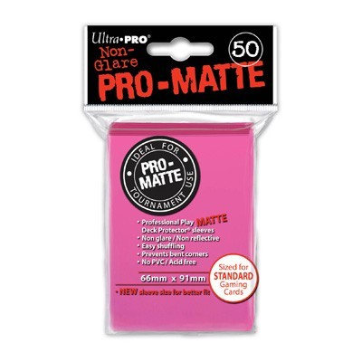 Sleeves: Pro-Matte Bright Pink