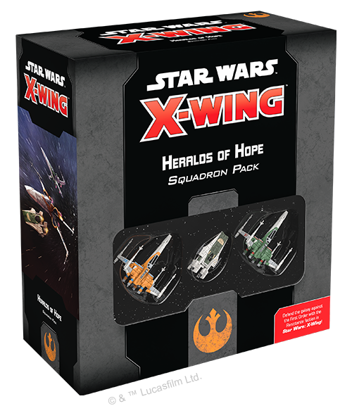 Star Wars X-wing 2.0 Resistance Squadron Heralds of Hope Squadron Pack
