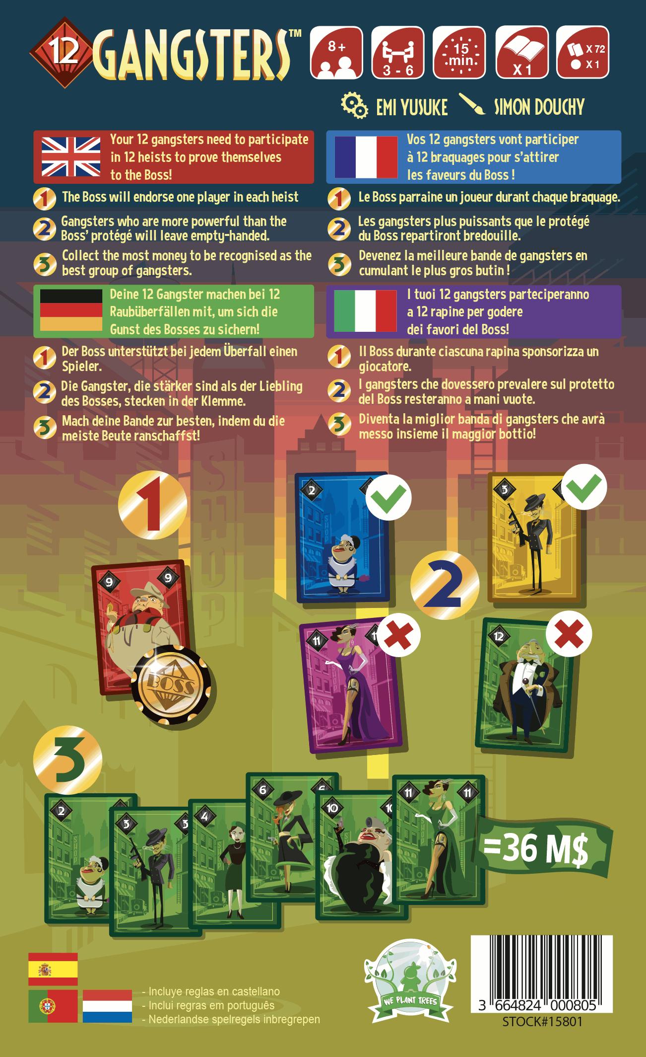 12 Gangsters - Kaartspel