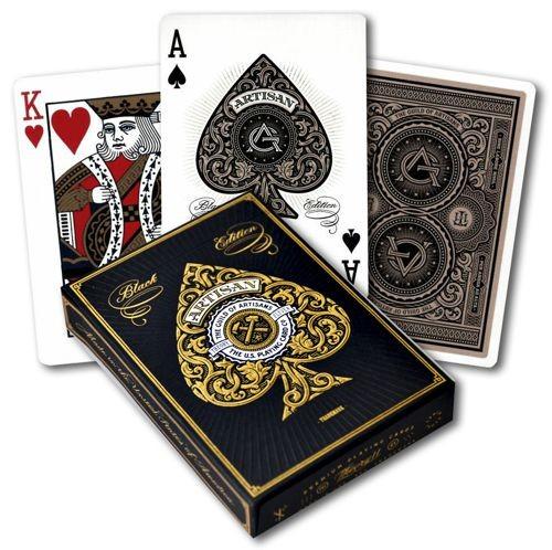 Pokerkaarten Bicycle Artisan Black Premium
