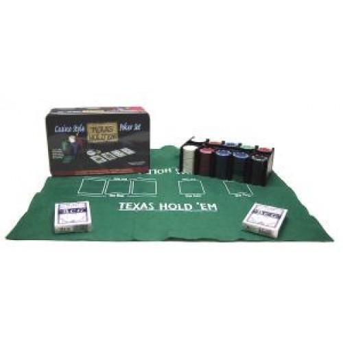Poker-set Texas Hold'em Blik 200 chips