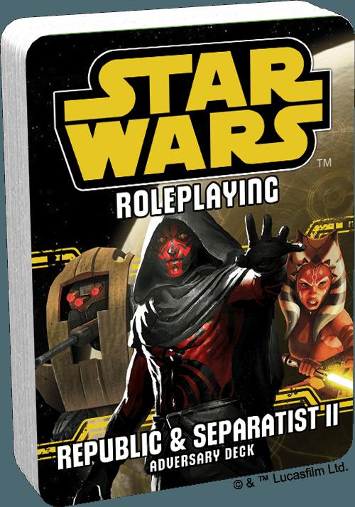 Star Wars Republic and Separatist II Adversary Deck