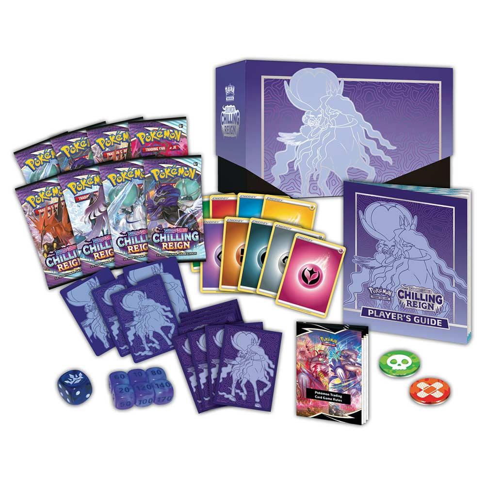 Pokemon: Sword & Shield 6 Chilling Reign - Elite Trainer Box: Shadow Rider Calyrex