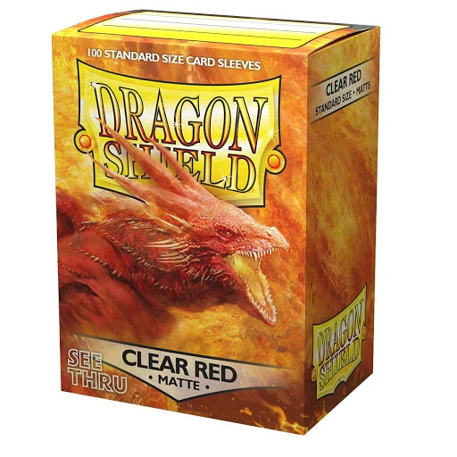 Sleeves: Dragon Shield Clear Red (100ct)