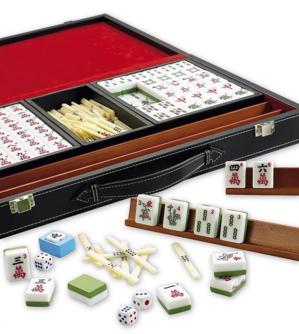 Mahjong deluxe met latten