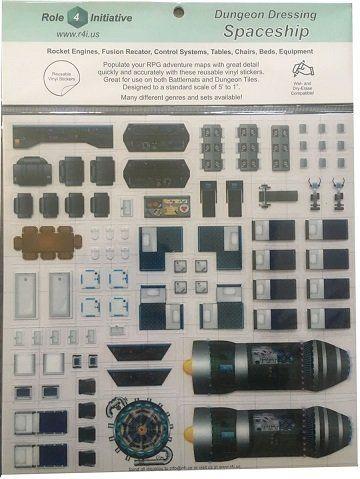 Spaceship: Dungeon Dressing: Dry Erase Vinyl Stickers