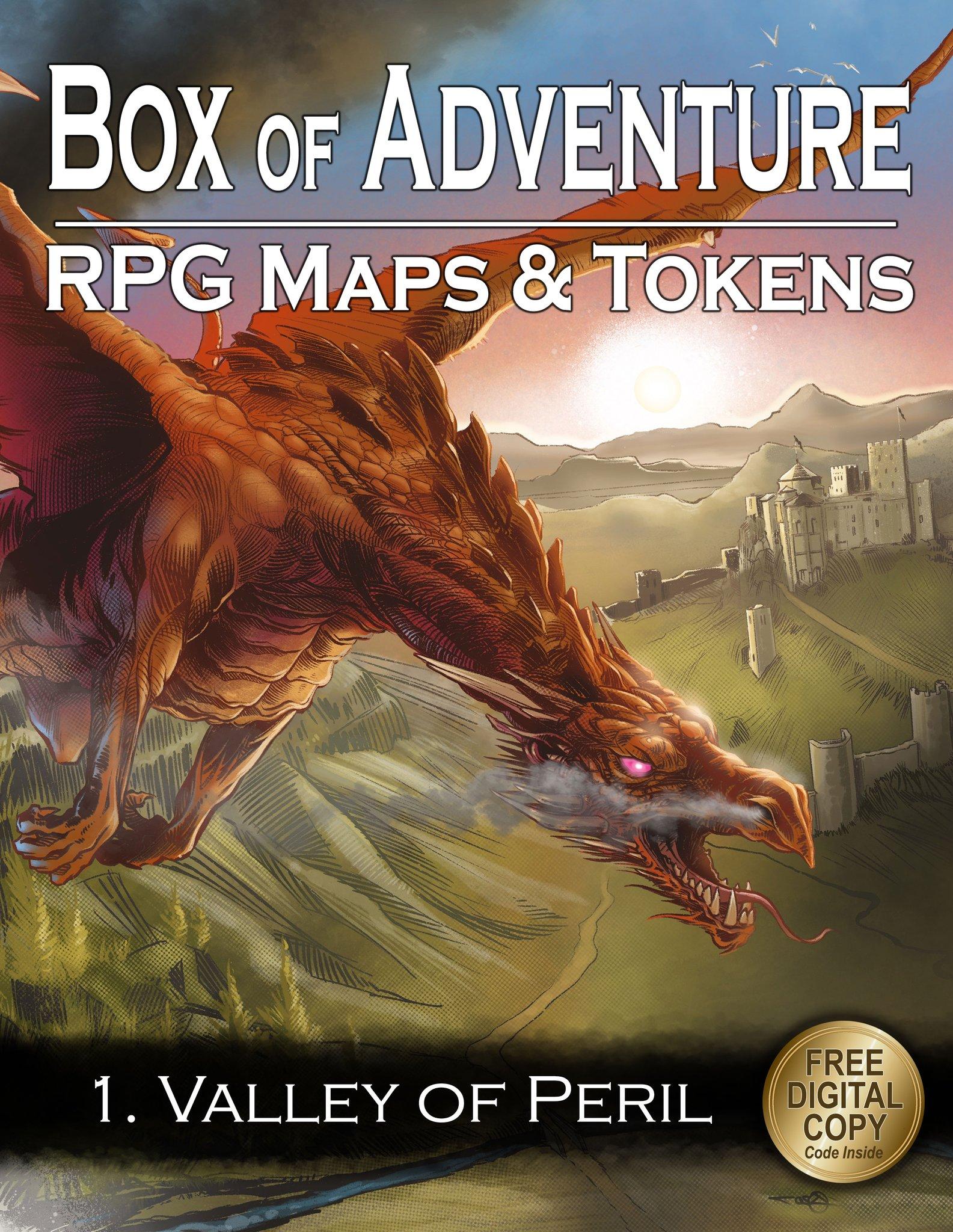 Loke Battle Mats' Box of Adventure – Valley of Peril