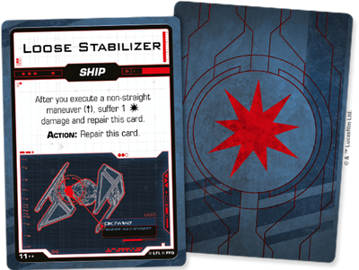 Star Wars X-wing 2.0 Galactic Empire Damage Deck