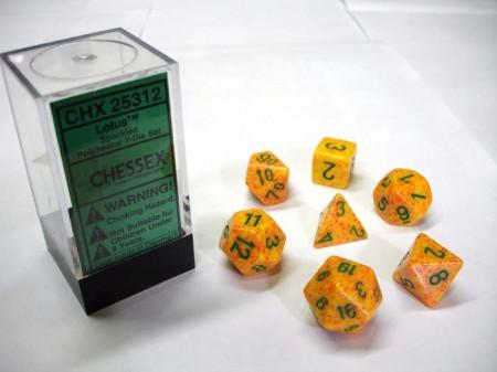 Lotus Speckled Polydice Dobbelsteen Set (7 stuks)